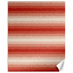 Horizontal Red Curly Stripes Canvas 11  X 14  (unframed)
