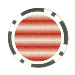 Horizontal Red Curly Stripes Poker Chip