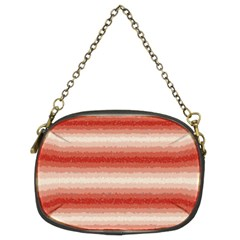 Horizontal Red Curly Stripes Chain Purse (two Sided)