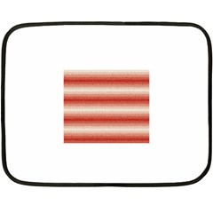 Horizontal Red Curly Stripes Mini Fleece Blanket (two Sided)