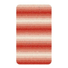Horizontal Red Curly Stripes Memory Card Reader (rectangular)