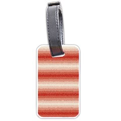 Horizontal Red Curly Stripes Luggage Tag (one Side)