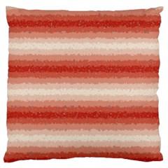 Horizontal Red Curly Stripes Large Cushion Case (single Sided)