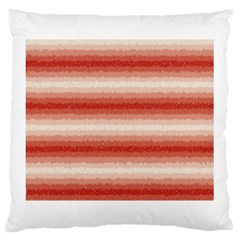 Horizontal Red Curly Stripes Large Cushion Case (two Sided)