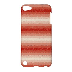 Horizontal Red Curly Stripes Apple Ipod Touch 5 Hardshell Case