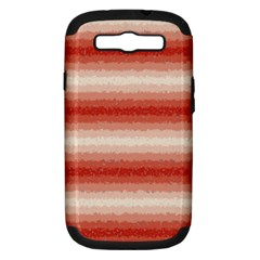Horizontal Red Curly Stripes Samsung Galaxy S Iii Hardshell Case (pc+silicone)