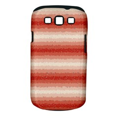 Horizontal Red Curly Stripes Samsung Galaxy S Iii Classic Hardshell Case (pc+silicone)