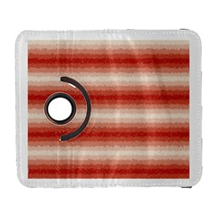 Horizontal Red Curly Stripes Samsung Galaxy S  III Flip 360 Case