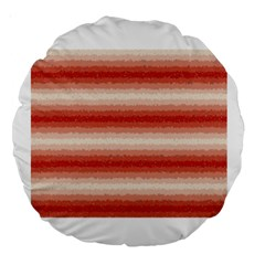 Horizontal Red Curly Stripes 18  Premium Round Cushion