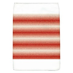 Horizontal Red Curly Stripes Removable Flap Cover (Large)