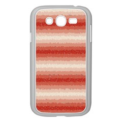 Horizontal Red Curly Stripes Samsung Galaxy Grand DUOS I9082 Case (White)