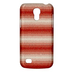 Horizontal Red Curly Stripes Samsung Galaxy S4 Mini (gt I9190) Hardshell Case