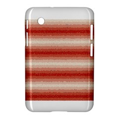 Horizontal Red Curly Stripes Samsung Galaxy Tab 2 (7 ) P3100 Hardshell Case
