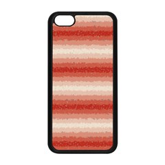 Horizontal Red Curly Stripes Apple Iphone 5c Seamless Case (black)