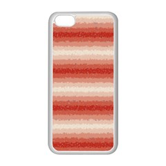 Horizontal Red Curly Stripes Apple iPhone 5C Seamless Case (White)