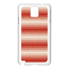 Horizontal Red Curly Stripes Samsung Galaxy Note 3 N9005 Case (White)