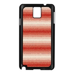 Horizontal Red Curly Stripes Samsung Galaxy Note 3 N9005 Case (black)