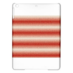 Horizontal Red Curly Stripes Apple iPad Air Hardshell Case