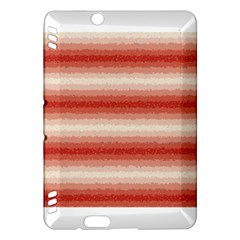 Horizontal Red Curly Stripes Kindle Fire HDX Hardshell Case