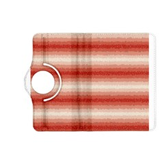 Horizontal Red Curly Stripes Kindle Fire HD (2013) Flip 360 Case