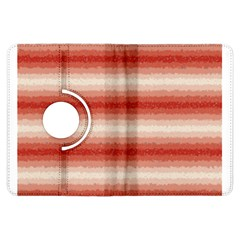 Horizontal Red Curly Stripes Kindle Fire Hdx Flip 360 Case