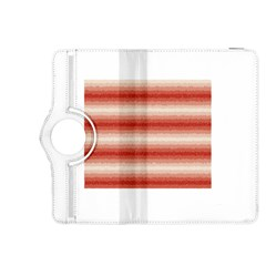Horizontal Red Curly Stripes Kindle Fire Hdx 8 9  Flip 360 Case