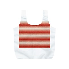 Horizontal Red Curly Stripes Reusable Bag (s)