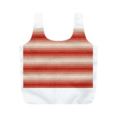 Horizontal Red Curly Stripes Reusable Bag (M)