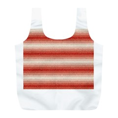 Horizontal Red Curly Stripes Reusable Bag (l)