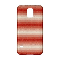 Horizontal Red Curly Stripes Samsung Galaxy S5 Hardshell Case