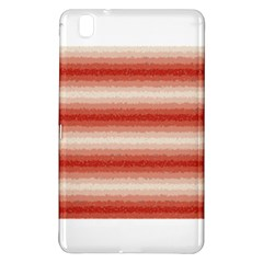 Horizontal Red Curly Stripes Samsung Galaxy Tab Pro 8 4 Hardshell Case