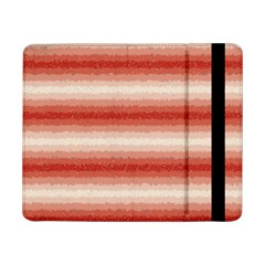 Horizontal Red Curly Stripes Samsung Galaxy Tab Pro 8.4  Flip Case
