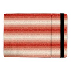 Horizontal Red Curly Stripes Samsung Galaxy Tab Pro 10 1  Flip Case