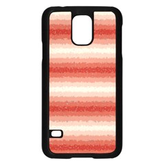 Horizontal Red Curly Stripes Samsung Galaxy S5 Case (Black)