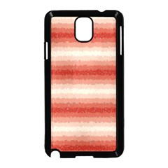 Horizontal Red Curly Stripes Samsung Galaxy Note 3 Neo Hardshell Case (Black)