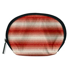 Horizontal Red Curly Stripes Accessory Pouch (medium)