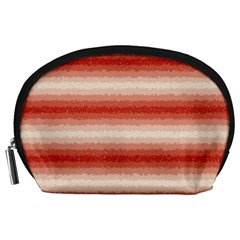 Horizontal Red Curly Stripes Accessory Pouch (Large)