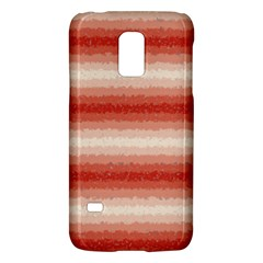 Horizontal Red Curly Stripes Samsung Galaxy S5 Mini Hardshell Case