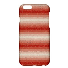 Horizontal Red Curly Stripes Apple Iphone 6 Plus Hardshell Case