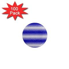 Horizontal Dark Blue Curly Stripes 1  Mini Button Magnet (100 Pack)