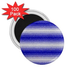 Horizontal Dark Blue Curly Stripes 2 25  Button Magnet (100 Pack)