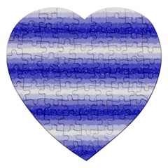 Horizontal Dark Blue Curly Stripes Jigsaw Puzzle (heart)