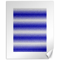 Horizontal Dark Blue Curly Stripes Canvas 16  X 20  (unframed)
