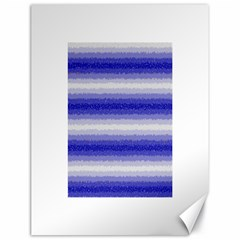 Horizontal Dark Blue Curly Stripes Canvas 18  X 24  (unframed)