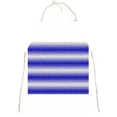 Horizontal Dark Blue Curly Stripes Apron