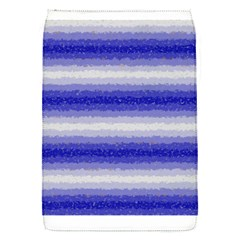 Horizontal Dark Blue Curly Stripes Removable Flap Cover (small)