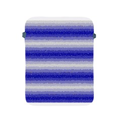 Horizontal Dark Blue Curly Stripes Apple Ipad Protective Sleeve