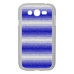 Horizontal Dark Blue Curly Stripes Samsung Galaxy Grand DUOS I9082 Case (White)