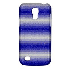 Horizontal Dark Blue Curly Stripes Samsung Galaxy S4 Mini (gt I9190) Hardshell Case