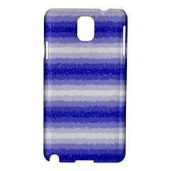 Horizontal Dark Blue Curly Stripes Samsung Galaxy Note 3 N9005 Hardshell Case